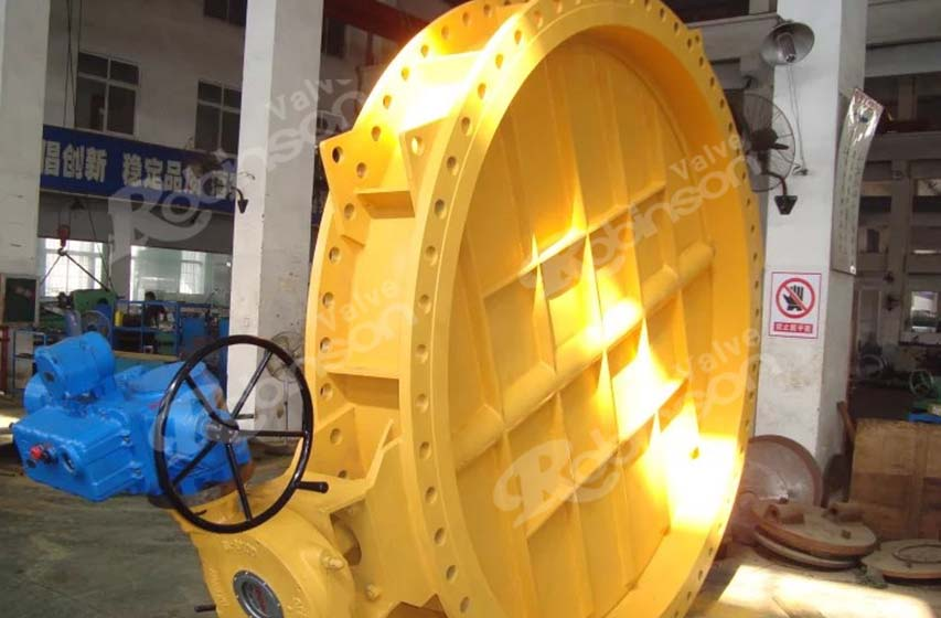Large Size Butterfly Valve With Electric Actuator