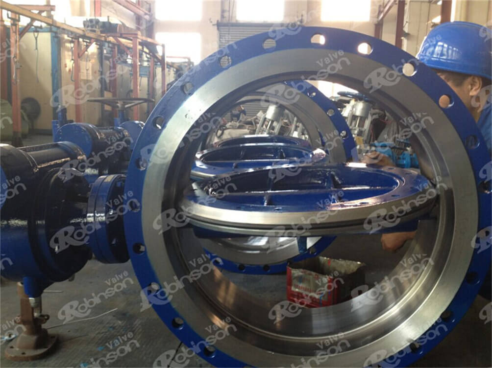 DN700 butterfly valve exported to Belarus