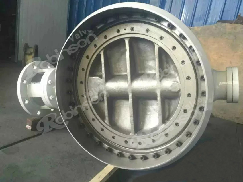 Bi-directional metal to metal seated butterfly valve weld connection