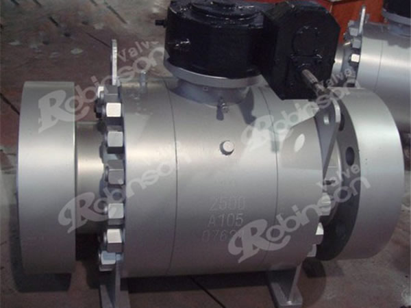 2500lb High Pressure Ball Valve Trunnion High Quality