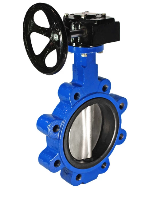 Ductile Iron Lug Butterfly Valves Gearbox Handwheel