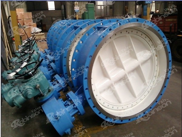Double Eccentric Motorised Butterfly Valve