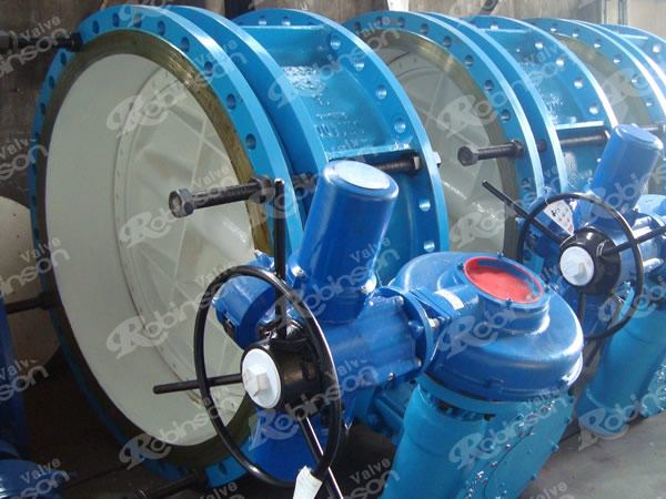 Motorised Triple Offset Flanged End Butterfly Valves