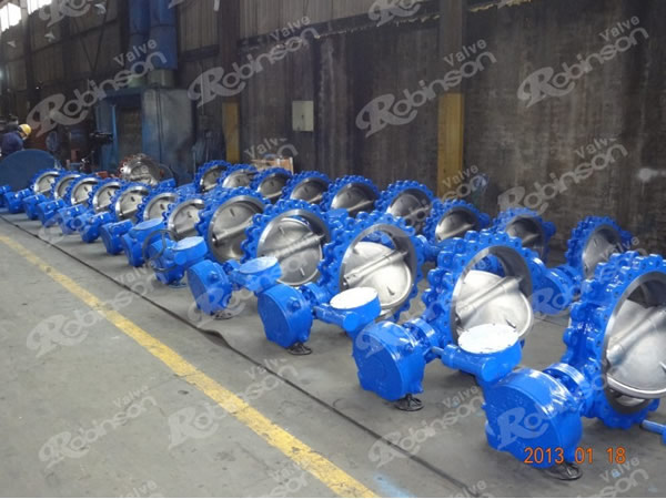 Lug Style Cast Steel Triple Offset Butterfly Valve