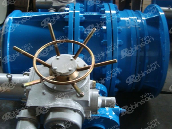 Main Inlet Valve For Turbine Electric Type Butterfly Valve For Hydraulic Power Station
