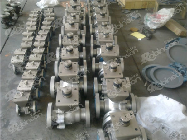 Metal Seated Floating Ball Valve Flange Type