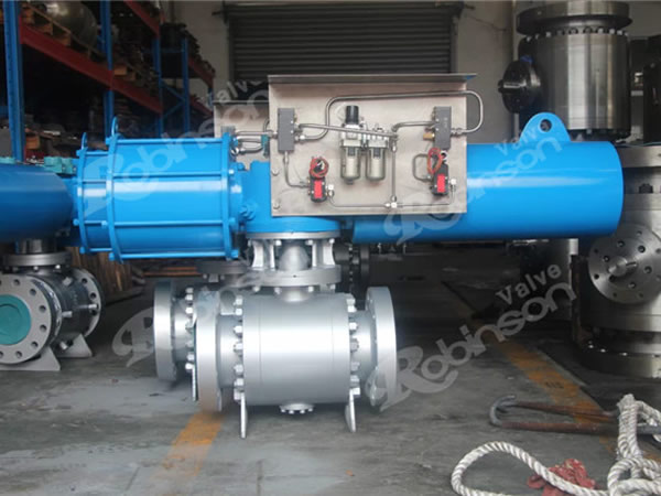 Pneumatic Actuator Trunnion Ball Valve Wcb High Quality