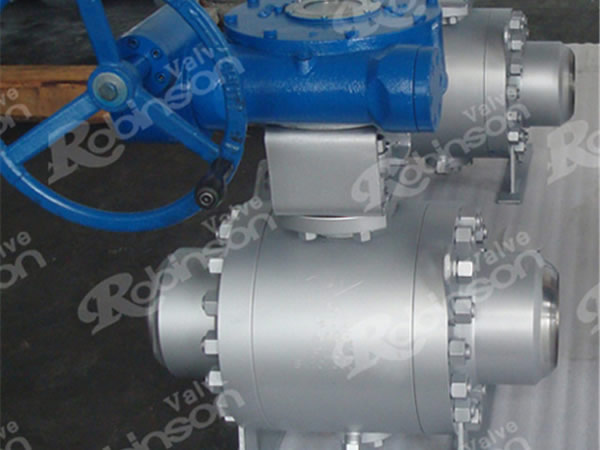 Worm Gear Operated Butt Welded Trunnion Mounted Ball Valve